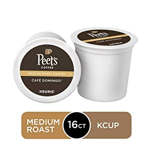 Peet's Coffee Café Domingo, Medium Roast, 16 Count Single Serve K-Cup Coffee Pods for Keurig Coffee Maker