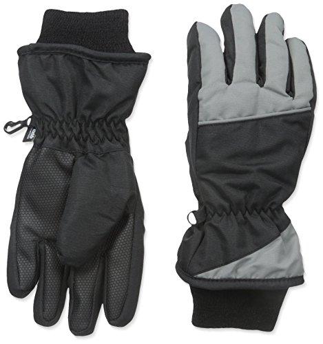 Nolan Gloves Big Boys' Polar Peak Color Block Ski Glove, Grey, (Gray Ski)