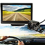 AUDEW Car 5 Inch LCD Monitor IR Wireless Rear View Backup Camera Reversing Kit Wireless