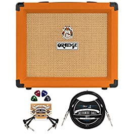Orange Amps Crush 20RT Amplifier for Electric Guitars (Orange) Bundle with Blucoil 10-FT Straight Instrument Cable (1…