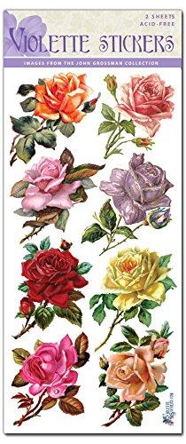 Violette Stickers 8 Rosebuds - Rose C40