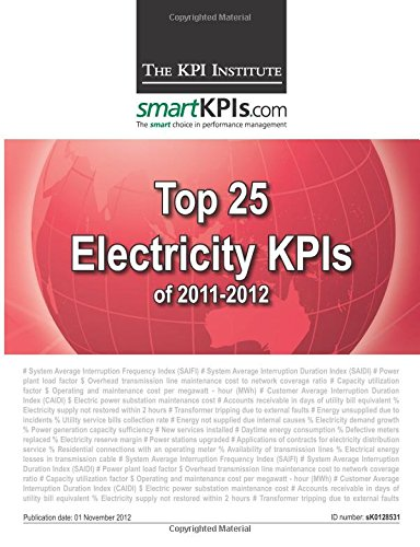 Download Top 25 Electricity KPIs of 2011-2012 pdf epub
