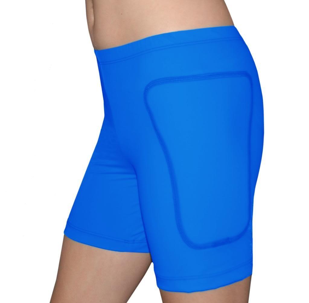 Tuga Padded Slider Shorts, 5'' Inseam, Royal, XX-Small by Tuga Sportz