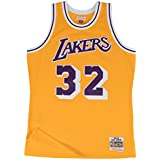 Mitchell & Ness Magic Johnson Los Angeles Lakers NBA Throwback HWC Jersey - Gold