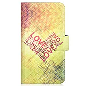 Generic Red Love Heart Design Card Slot Magnetic PU Leather Flip Case Cover Compatible For Nokia Lumia 520 520T