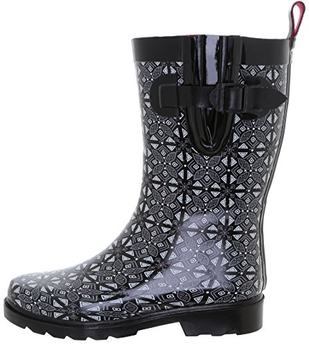 Boot White Calf Rain Capelli Ladies Grey York Mid Tone Rubber Two New qnHP6z