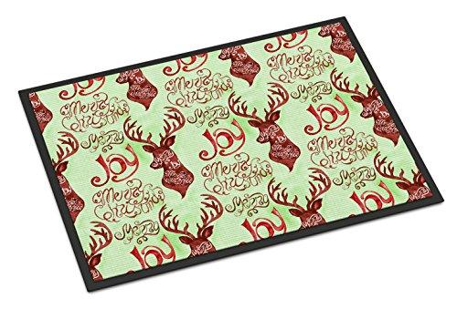 Indoor Reindeer - Caroline's Treasures Merry Christmas Joy Reindeer Indoor or Outdoor Doormat, 24hx36w, Multicolor