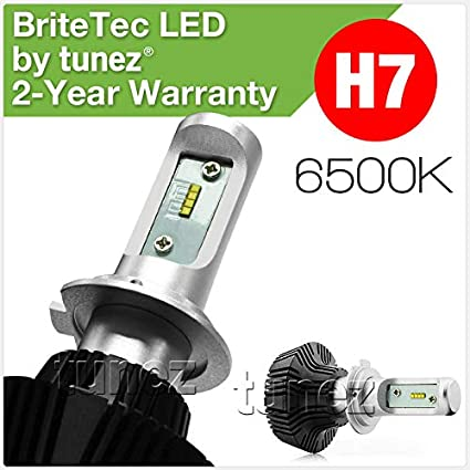 6500k Pair WHITE H7 Replacement HID Bulbs