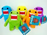 Domo 5 Plush Doll Set 8 inches - Blue, Yellow, Pink, Green and Orange