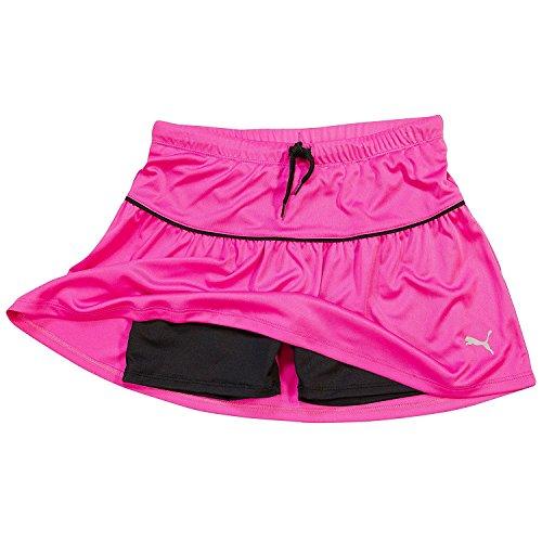 M?dchen-athletisches Tennis Skort, das aktives Yoga-Gymnastik-Activewear-Schwarz-kleines laufen l?sstPuma Girls Yoga Capris - Grau / Rosa Capri Crop Pants - Gro?