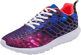 Chaussures ADESHOP Mode Chaussures De Course Respirantes pour Hommes Les Loisirs Sport Baskets De Course en Plein Air RéSistant à l'usure AntidéRapant Maille Chaussures De Course Sneakers Confortable