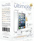 The Ultimate Bundle for iPhone 5 / 5S - White - 7 in 1 Accessory Kit - Gift Packaging - iOS 7 Compatible
