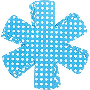Protège poêles et séparateur de casseroles Cherafone – Lot de 5 – Parfaits pour éviter Les Rayures sur des poêles Anti-adhésives, Ainsi Que sur des poêlons en Acier Inoxydable, en Fonte ou en grès