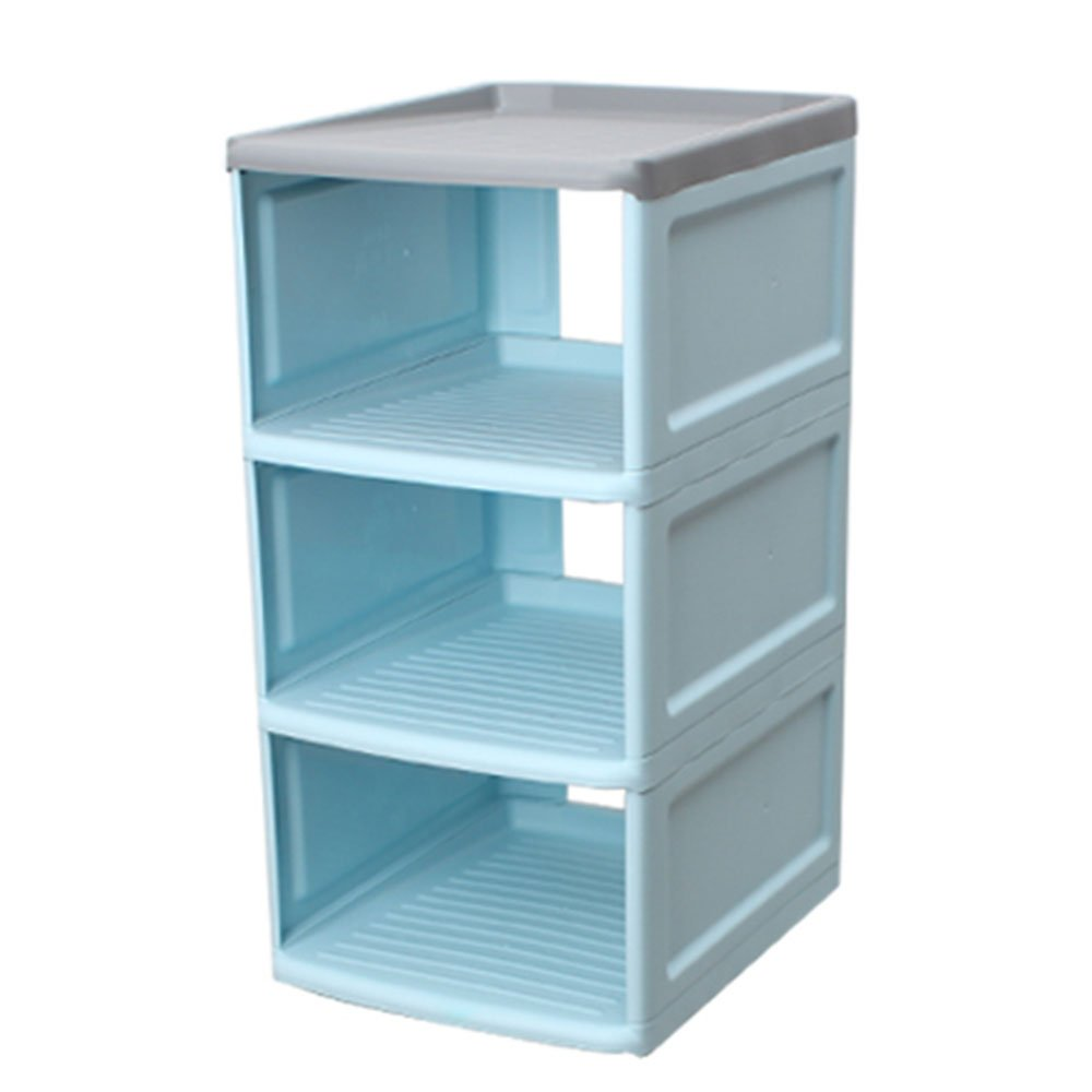 LiRuiPeng shoe rack GWDJ Shoe Rack Plastic Multilayer Stack Save Space Fast Storage Household (Color : Blue, Size : 52CM)