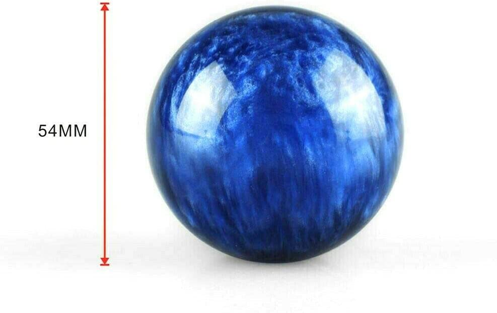 JDM BLUE Pearl 54mm ROUND BALL SHIFT KNOB M8x1.25 M10x1.5 M10x1.25 M12x1.25