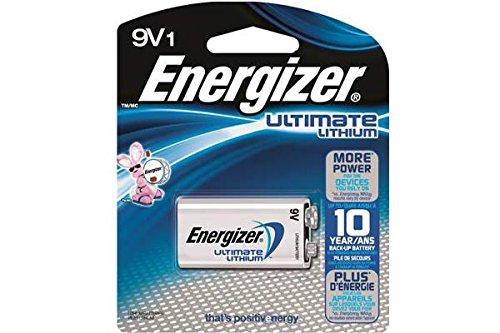 8 x 9 Volt Energizer Ultimate Lithium Batteries (L522)