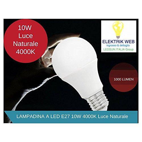 Bombilla LED E27 10 W blanco natural 4000 K luz ahorro de energía: Amazon.es: Iluminación