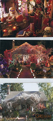 Grimm Season 2 Monroe's Halloween Raised Varnish 3 Chase Card Set