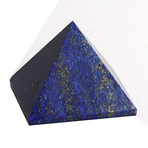 "HongJinTian Crystal Natural Lapis Lazuli Pyramid 1.77""w"