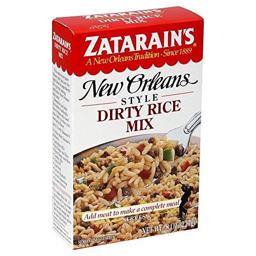 Zatarain's Mix Dirty Rice 8 Ounce Box (Pack of 6)