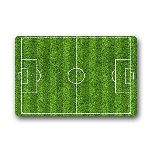 "F. Twiggs Paul Design Door Mats Sport Theme Soccer Green Football Field Design Home Doormats Rubber Durable Home Home Doormats Rubber Mats Floor Mat Rug (23.6""X15.7"")"
