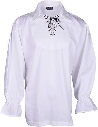 Renacimiento Ocasional de la Camisa del Verano del Pirata Medievales Hombres Traje de Color Diff Todos los tamaños: Amazon.es: Ropa y accesorios