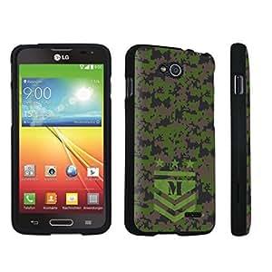 DuroCase ? LG Optimus L90 Hard Case Black - (Army Camo Monogram M)