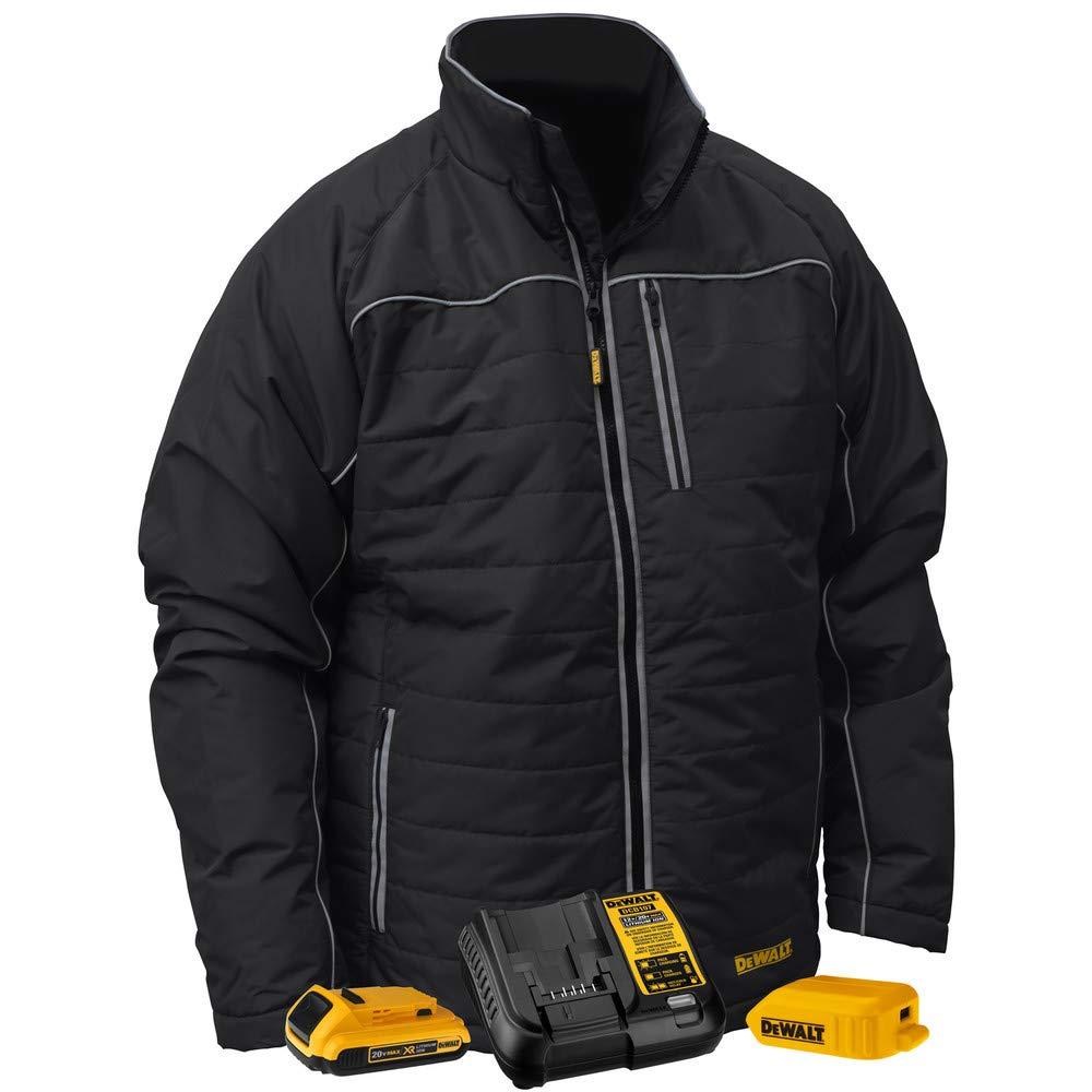 Dewalt DCHJ075D1-L 20V MAX Li-Ion Quilted/Heated Jacket Kit - Large