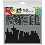 Crafters Workshop Template, 6 by 6-Inch, Skyline