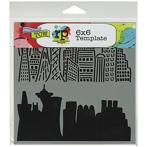 Crafters Workshop Template, 6 by 6-Inch, Skyline by CRAFTERS WORKSHOP