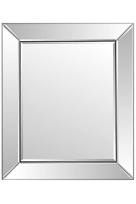 Argent Moderne Miroir Vénitien Biseauté Groupe Sister
