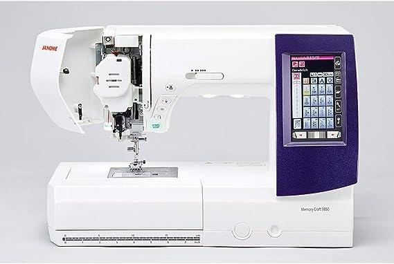 Janome MC 9850 - Máquina de Coser y Bordar: Amazon.es: Hogar