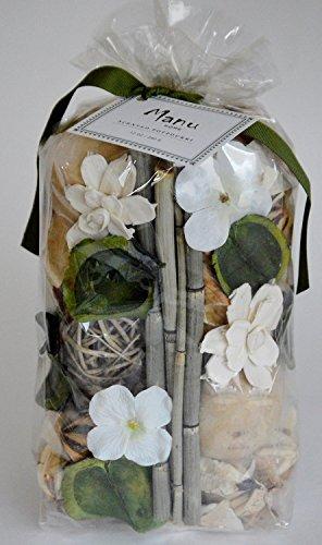 Manu Home ManuPP Signature Scented Potpourri Bag with Bamboo Sticks and Sola Flowers, 12 oz