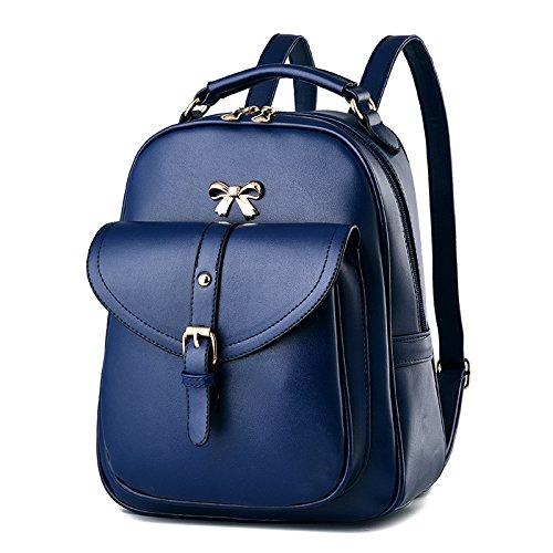 BOAOGOS Laptoprucksäcke Casual Tagesrucksäcke Frauen Rucksack fashion Neue lady Rucksack koreanischen Wave weiblichen Tasche college Wind pu Leder Tasche blue design 2