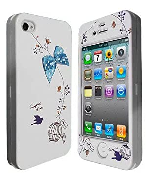purchase cheap 95e75 2d3c0 iPhone 4 Case - 2-in-1 Cute Bow Full Body Cover for: Amazon.co.uk ...