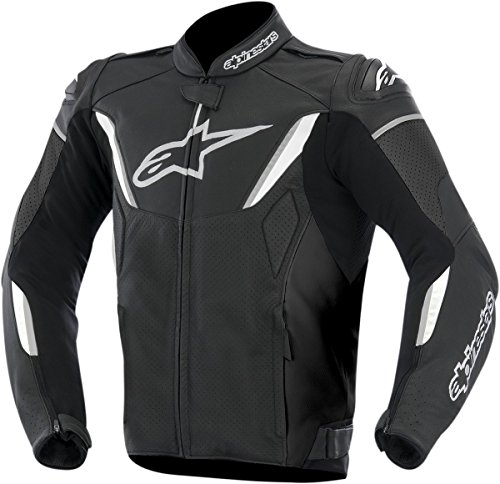 Alpinestars GP-R Perforated Leather Men's Riding Jacket (Black/White, Size 54)