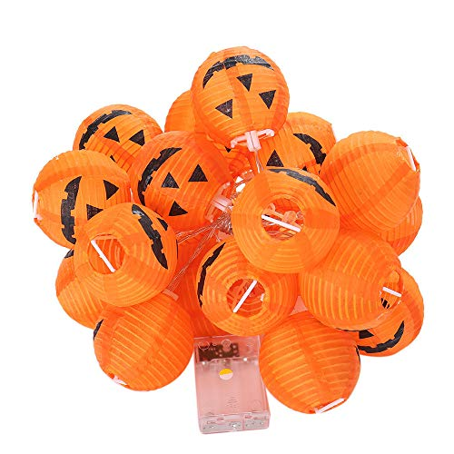 Idee De Decoration D'halloween (Vicbovo Clearance Pumpkin String Lights 20 LED Pumpkin String Lights 3D Jack o Lantern Halloween Decoration Lights Decor for Indoor Outdoor Party Ideas,)