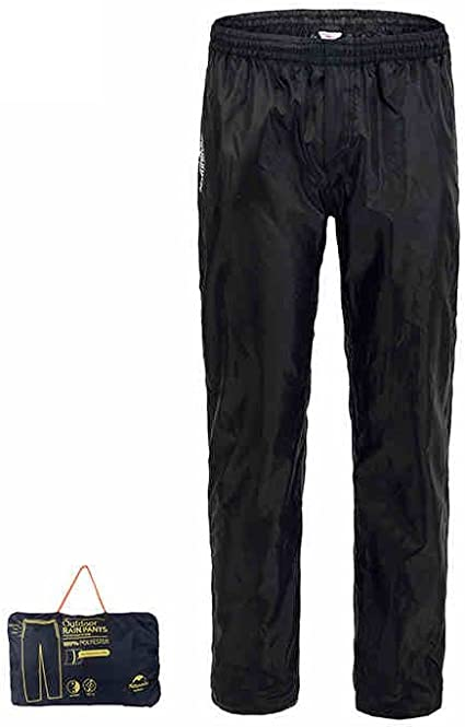 HYSENM Unisex Folding Waterproof Breathable Over Trousers Fishing Camping Cycling Hiking Outdoor Rain Pants