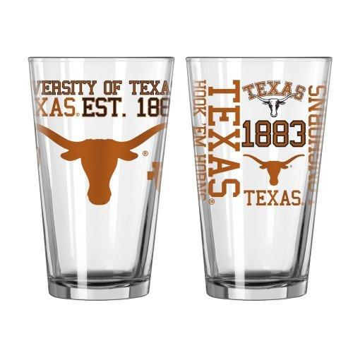 NCAA Texas - Spirit Pint Glasses (2) | Texas Longhorns 16 oz. Beer Pints - Set of 2