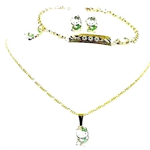 valore eccezionale vasta selezione vendite calde Parure di gioielli per bambini, 3 pezzi, motivo: Hello Kitty ...