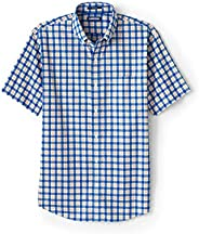 Lands' End Men's Short Sleeve Traditional Fit No Iron Sp
