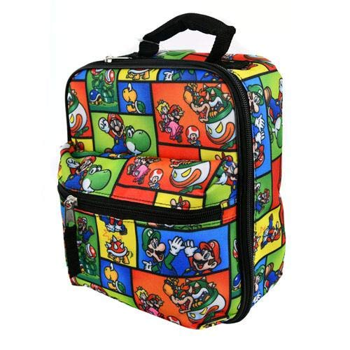 (UPD Super Mario Lunch Bag with Front Pocket, Small, Multicolor)