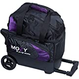 Moxy Bowling Products Single Deluxe Roller Bowling Bag- Purple/Black