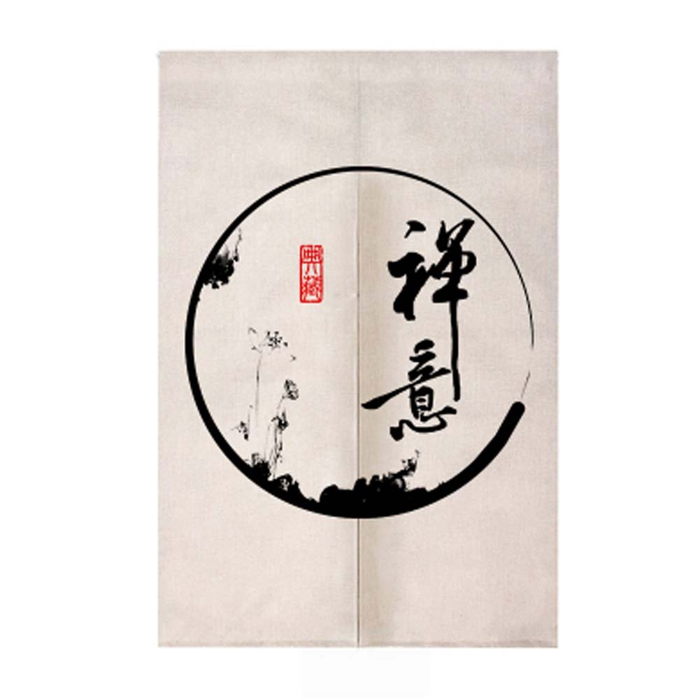 Black Temptation Traditional Chinese Style Doorway Japanese Noren Curtain Bedroom Curtain, 04