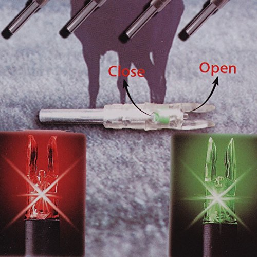 aokur 6PCS 6.2mm Automatic Led Lighted Nock Compound Bow Arrow Nock for Hunting Shooting by Homden (Image #8)