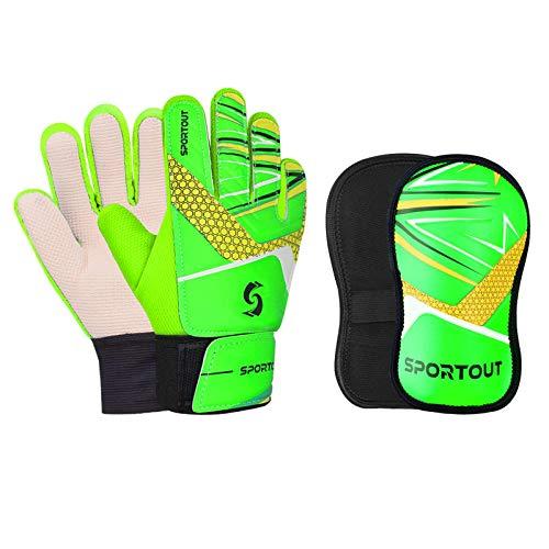 SPORTOUT Juego de guantes de portero para niños y niñas, guantes de entrenamiento para evitar lesiones