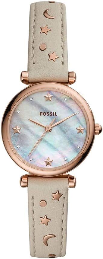 Fossil Pour Femme Mini Cuir Carlie Es4526 Montre En D PXiZuTOk