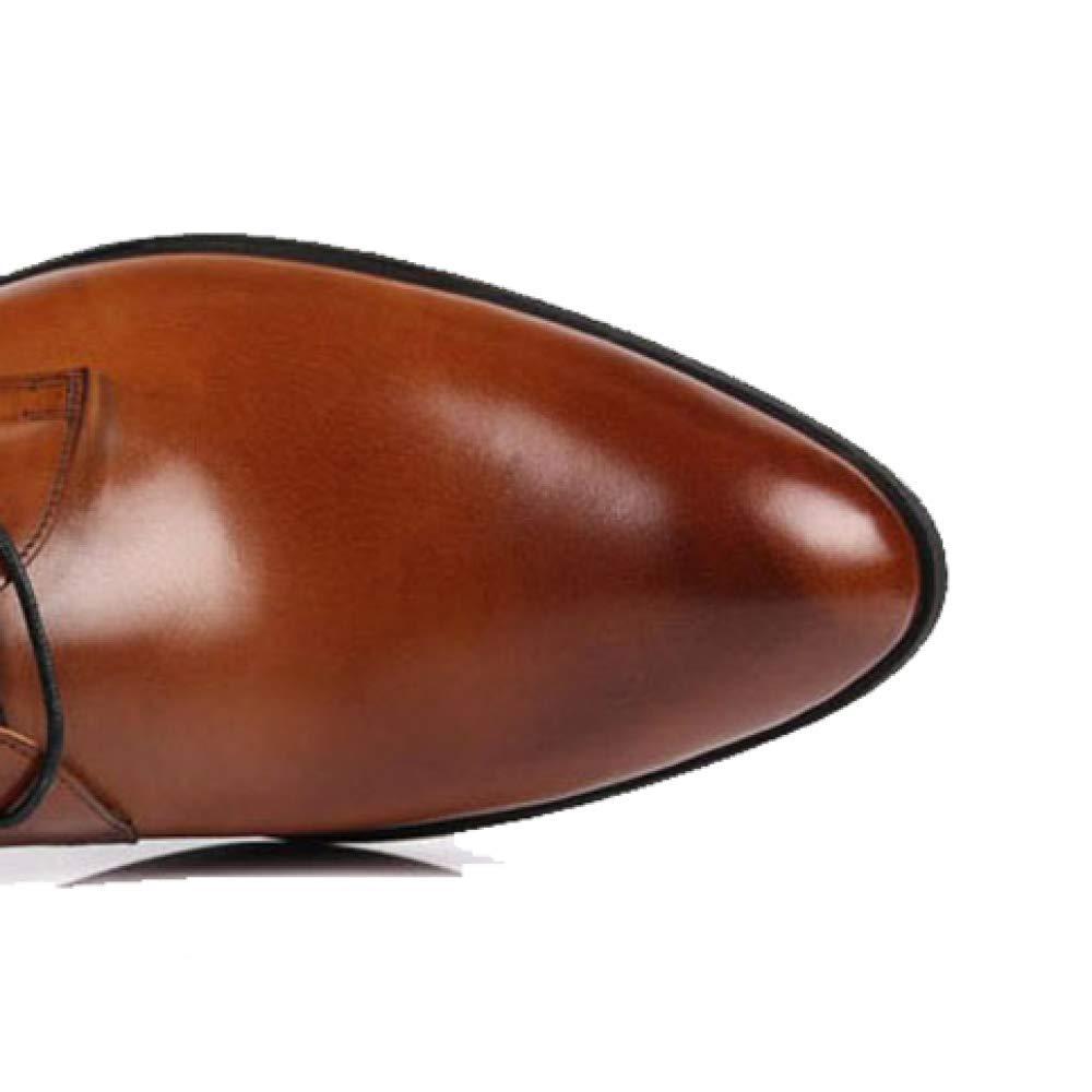 ZPEDY Männer, Spitze, Lederschuhe, Business, Niedrige Schuhe, Lässig, Spitze, Männer, Bequem, Tragbar Braunishyellow 1fab13