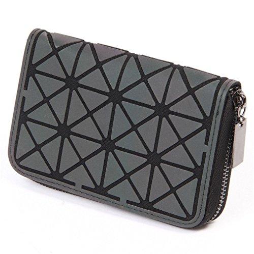 Betrocka Women Short Clutch Luminous Wallet Diamond Lattice Zipper Wallets Designer 3 by Betrocka