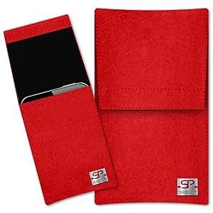 SIMON PIKE Cáscara Funda de móvil Sidney 1 rojo Alcatel ONE TOUCH 992D Fieltro de lana